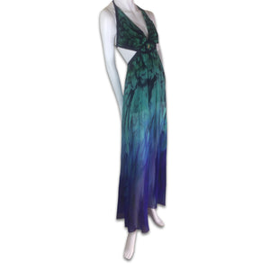 ROBERTO CAVALLI Peacock long dress
