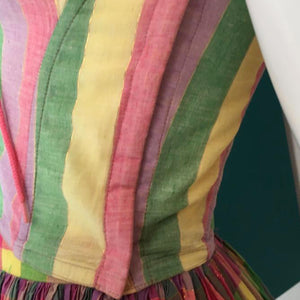 CHANTAL THOMASS 80s bustier+ skirt with 2 matching ribbons