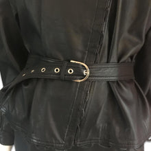 Load image into Gallery viewer, CHANTAL THOMASS 90s Black Leather set