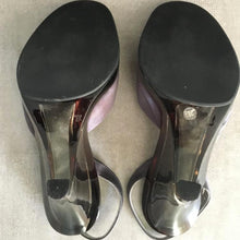 Load image into Gallery viewer, PRADA 1998 Grey and transparent Lucite heels