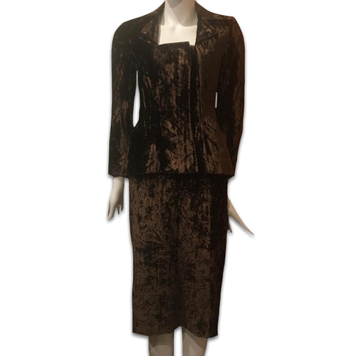 CHANTAL THOMASS 1990 Brown velvet set