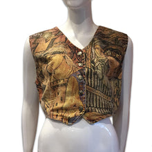 Load image into Gallery viewer, ROBERTO CAVALLI medieval print gilet - FW1994