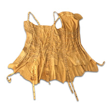 Load image into Gallery viewer, PLEIN SUD 90s Yellow string leather dress