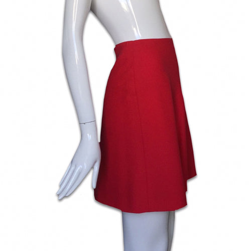 ISTANTE by VERSACE Red wool skirt