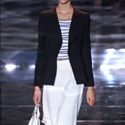 GIORGIO ARMANI SS2002 White top with blue stripes
