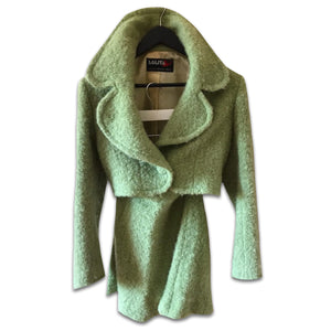 LOLITA LEMPICKA 1996 Light green wool set/ Skirt+ jacket