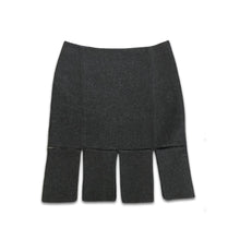 Load image into Gallery viewer, PRADA Fall/Winter 1998 Wool grey skirt
