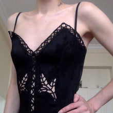 Load image into Gallery viewer, LA PERLA Black leaf bustier