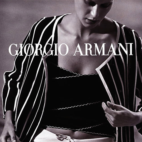 GIORGIO ARMANI SS2002 Black and white top