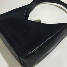 Load image into Gallery viewer, PRADA FW1998 Black Mat Leather assymetrical shoulder Bag
