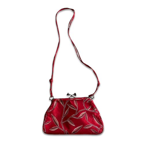 PRADA SS1997 Red Silk shoulder bag