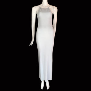 VERSUS Gianni Versace 90S Baby blue long dress with open back