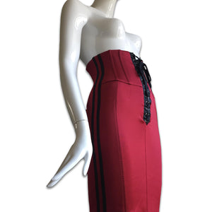 DOLCE&GABBANA Radio Red bustier lace up dress or skirt