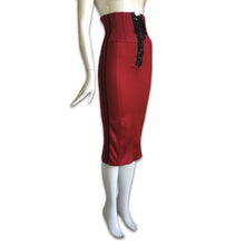 Load image into Gallery viewer, DOLCE&GABBANA Radio Red bustier lace up dress or skirt