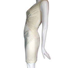 Load image into Gallery viewer, LA PERLA Satin cream dress with geometric cleavage