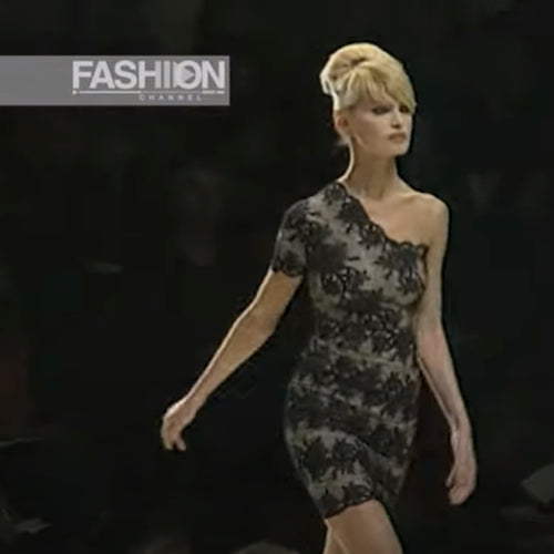 CHANTAL THOMASS SS1996 one shoulder lace dress