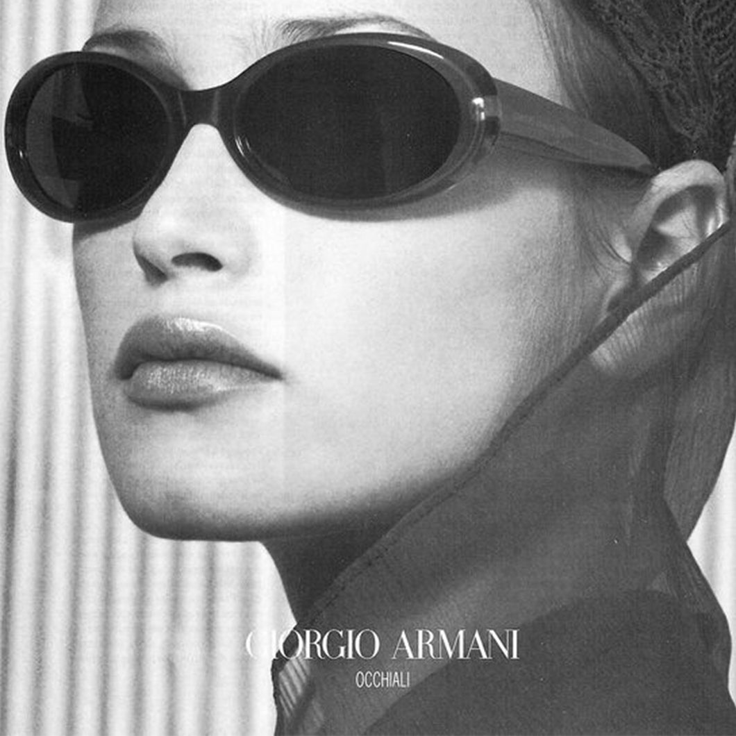 GIORGIO ARMANI 90s Sunglasses with transparent beige contour