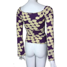 Load image into Gallery viewer, VERSUS VERSACE Wool and cotton square neck top with flare sleeves