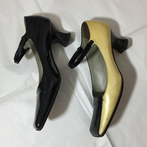 PRADA FW 1998/1999 bicolor kitten Mary Jane heels