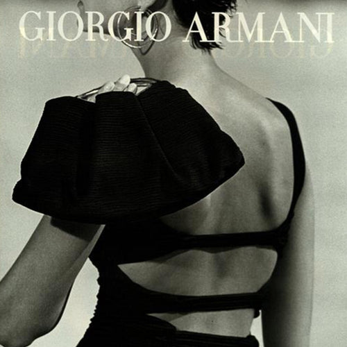 GIORGIO ARMANI SS2002 black top with open back
