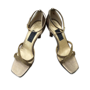 GIANNI VERSACE 90s Golden heels