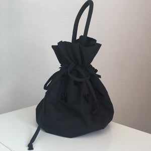 CHANTAL THOMASS 90s Mini Cotton black bag with nodes
