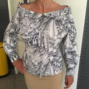 CHANTAL THOMASS SS1989 Black and white printed shirt