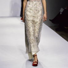 Load image into Gallery viewer, PRADA SS1997 Beige silk skirt with embroidered flowers