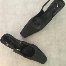 Load image into Gallery viewer, PRADA Black heel sandals