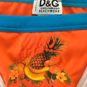 DOLCE&GABBANA Orange and blue Bikini
