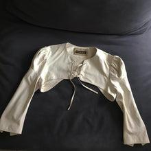 Load image into Gallery viewer, PLEIN SUD 2002 Beige Leather Lace up top