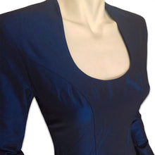 Load image into Gallery viewer, THIERRY MUGLER 90s Night blue dress