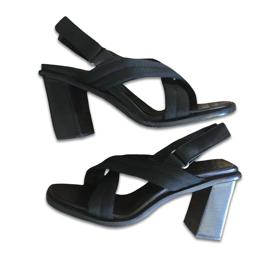 PRADA Black High block heel sandal