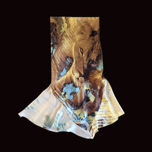 Load image into Gallery viewer, ROBERTO CAVALLI 2002 Printed Lion silk skirt