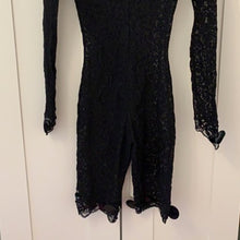 Load image into Gallery viewer, CHANTAL THOMASS 1991 Black lace bodysuit with embroidery