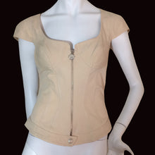 Load image into Gallery viewer, MUGLER 90s Beige zip bustier