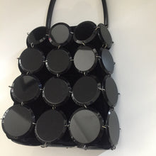 Load image into Gallery viewer, GIORGIO ARMANI Lucite black circles handbag + velvet