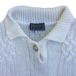 VERSUS Gianni Versace 90s Light wool beige top