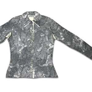 YOSHIKI HISHINUMA 90s grey pleated shirt