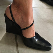 Load image into Gallery viewer, CALVIN KLEIN Geometrical Black heel