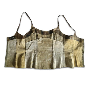 PLEIN SUD 90s Leather Bustier - Camouflage pattern