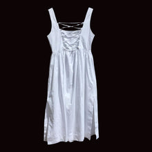 Load image into Gallery viewer, ALBERTA FERRETTI 1994 white cotton dress with lace up back