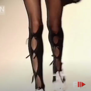 CHANTAL THOMASS SS 1992 Black tights with nodes