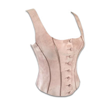 Load image into Gallery viewer, PLEIN SUD Leather pale pink/ brown bustier