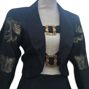 CHANTAL THOMASS FW1990 Black and gold suit