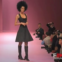 Load image into Gallery viewer, CHANTAL THOMASS F/W 1996 Grey babydoll dress with node on collar