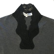 Load image into Gallery viewer, CHANTAL THOMASS AW1992 Grey top with black lace