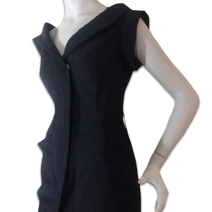 VIVIENNE WESTWOOD 90s Stripes dark blue dress
