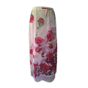 BLUMARINE Spring/ Summer 1997 Long skirt with red roses