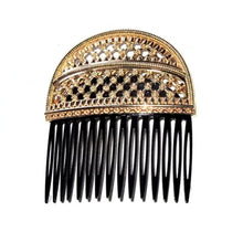 Load image into Gallery viewer, DOLCE&GABBANA Spring 2010 Golden Metal comb with velvet pocket